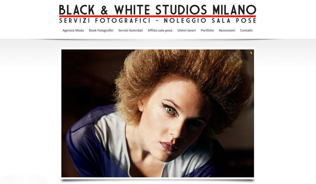 Apri il sito dello studio fotografico Black & White Studios Milano